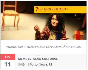 Workshop Rituais para a Cena, com Tânia Farias